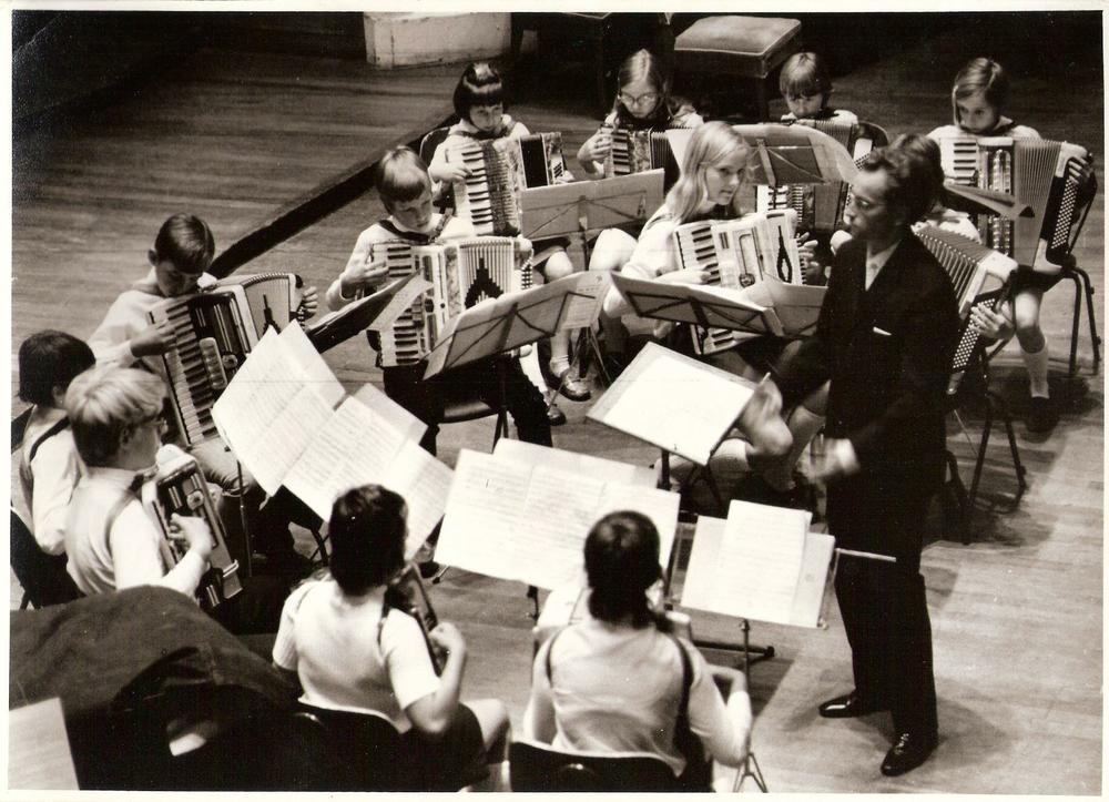 B-orkest Accordeonata Musis Sacrum in 1970